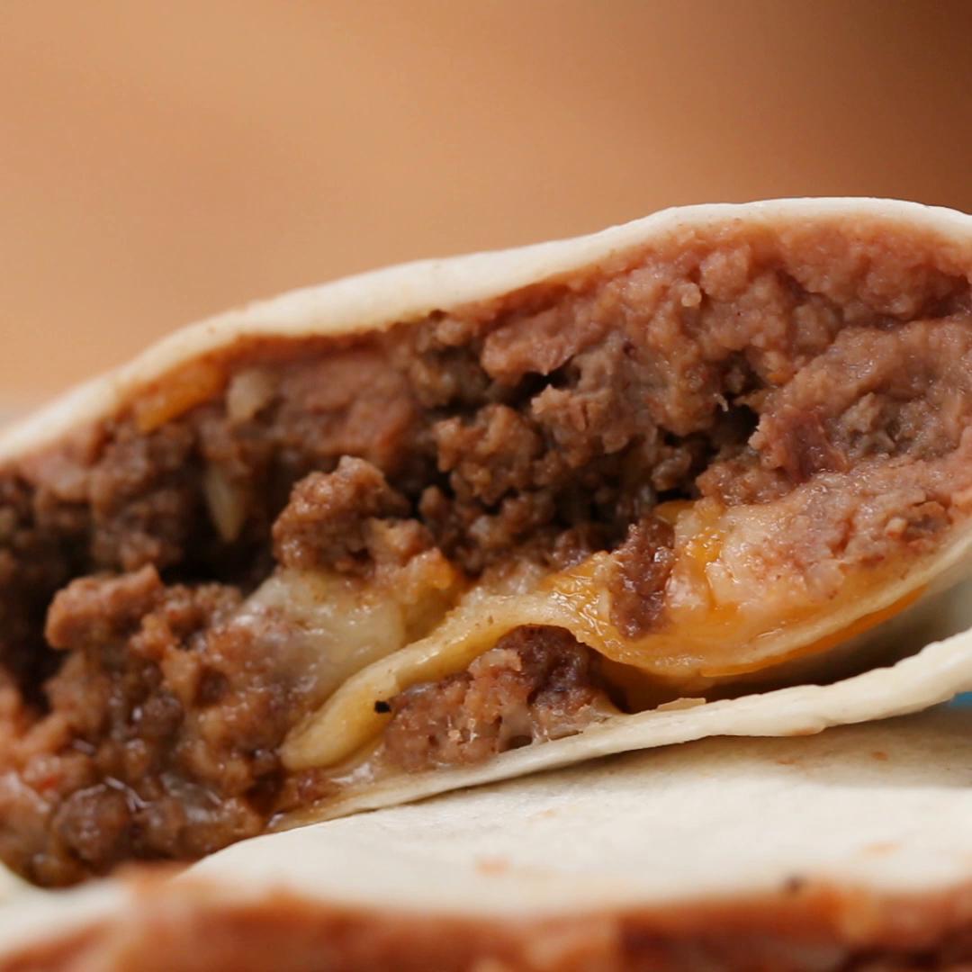 Beef & Bean Burritos Recipe by Tasty image
