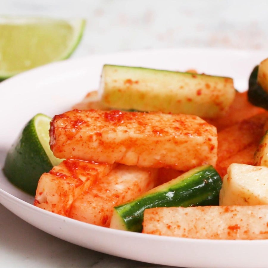 Chili-lime Pineapple Cucumber Sticks