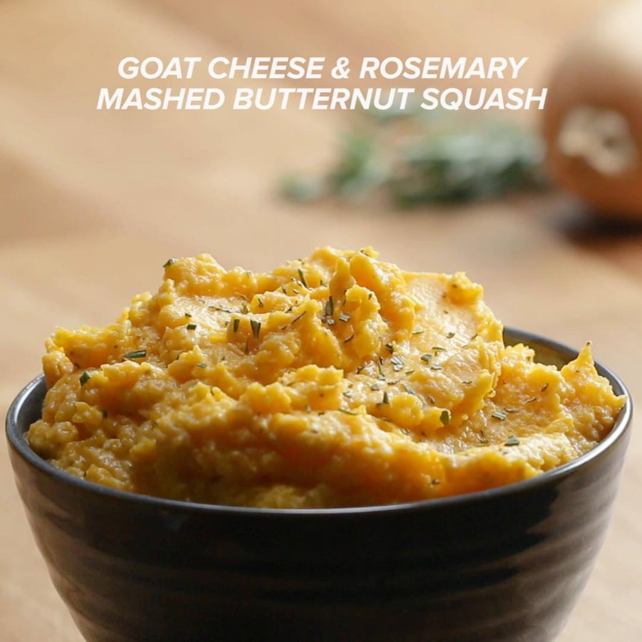 Goat Cheese And Rosemary Mashed Butternut Squash