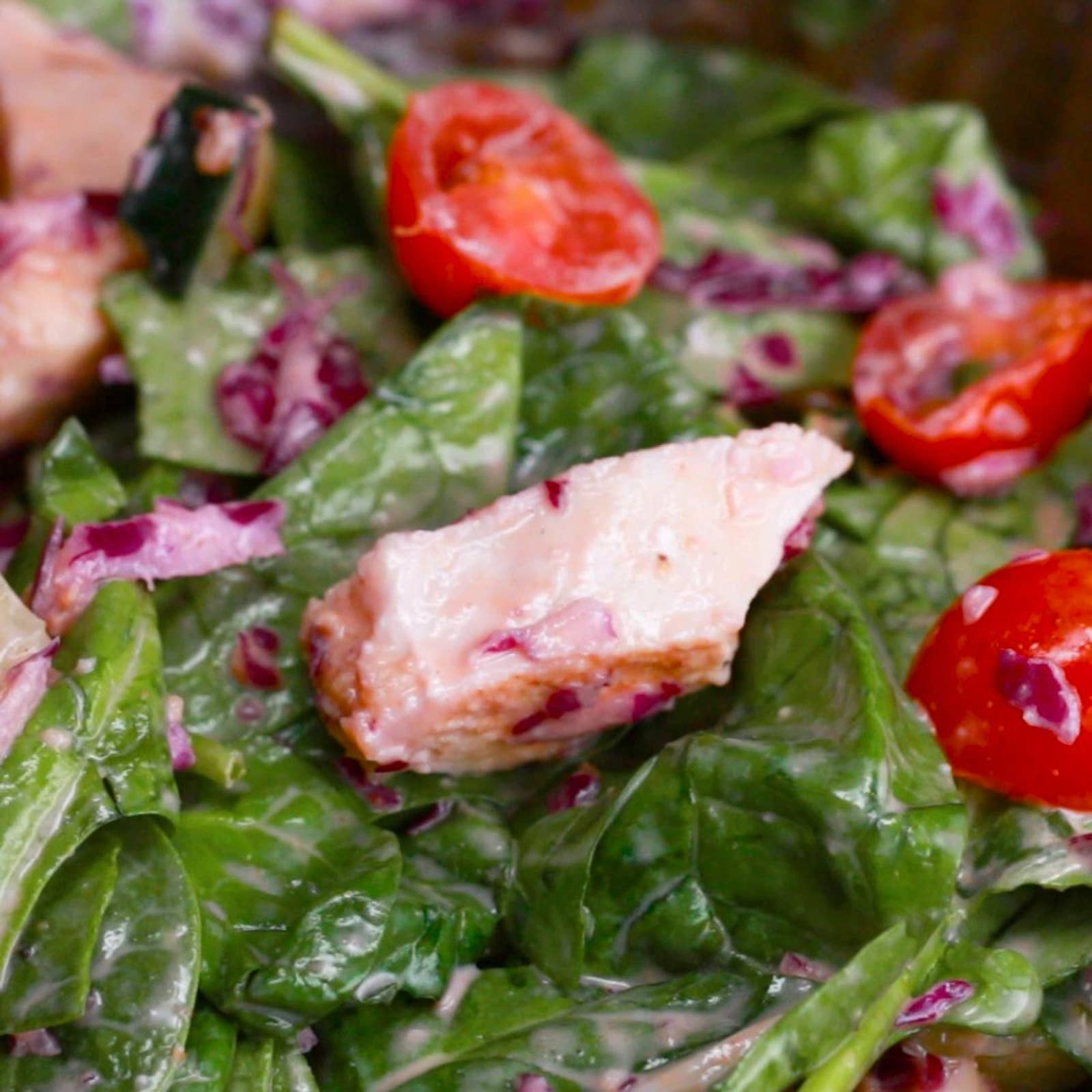 Greek Chicken Gyro Salad