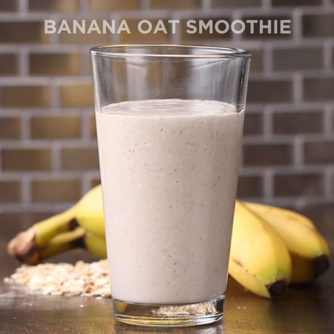 3 Ingredient Banana Oat Smoothie Recipe By Tasty