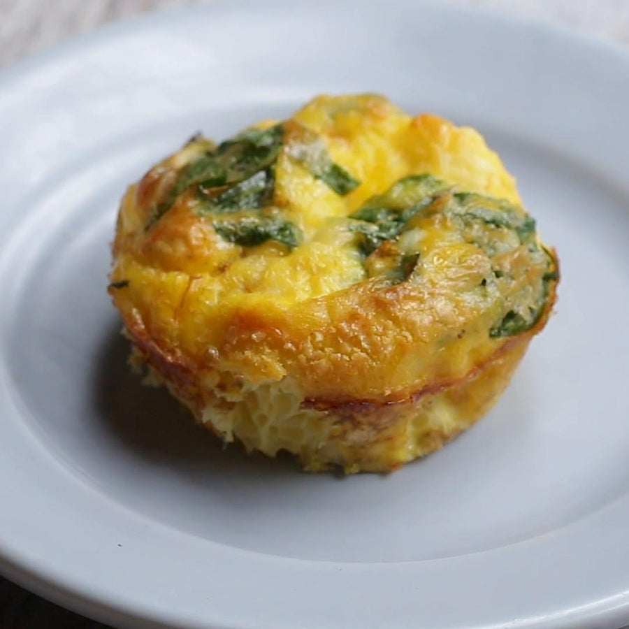Spinach And Feta Baked Egg Cups