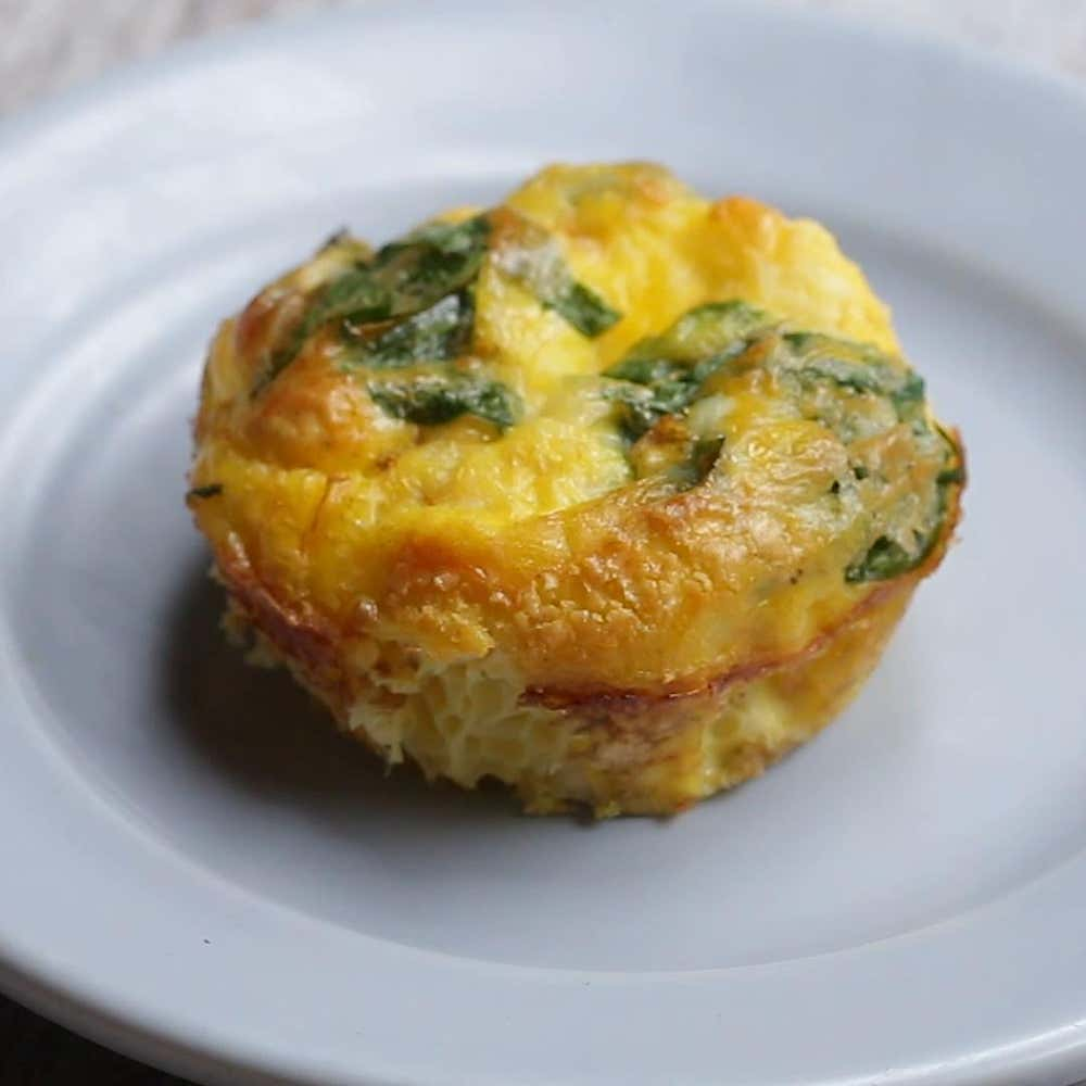 Spinach And Feta Baked Egg Cups Recipe By Tasty