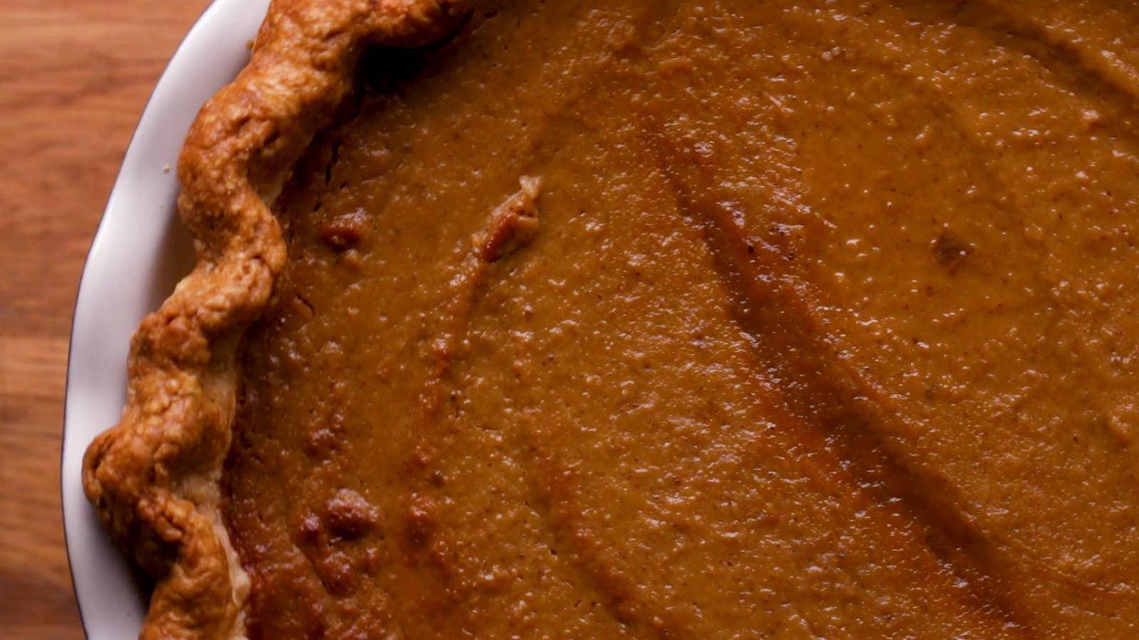 Fresh Pumpkin Pie Recipe By Tasty