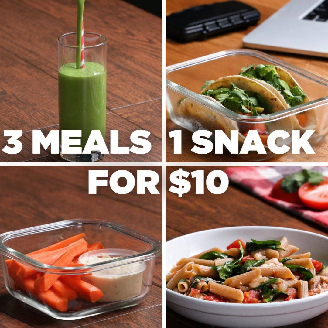 3 Meals 1 Snack 10 Meal Plan Recipes