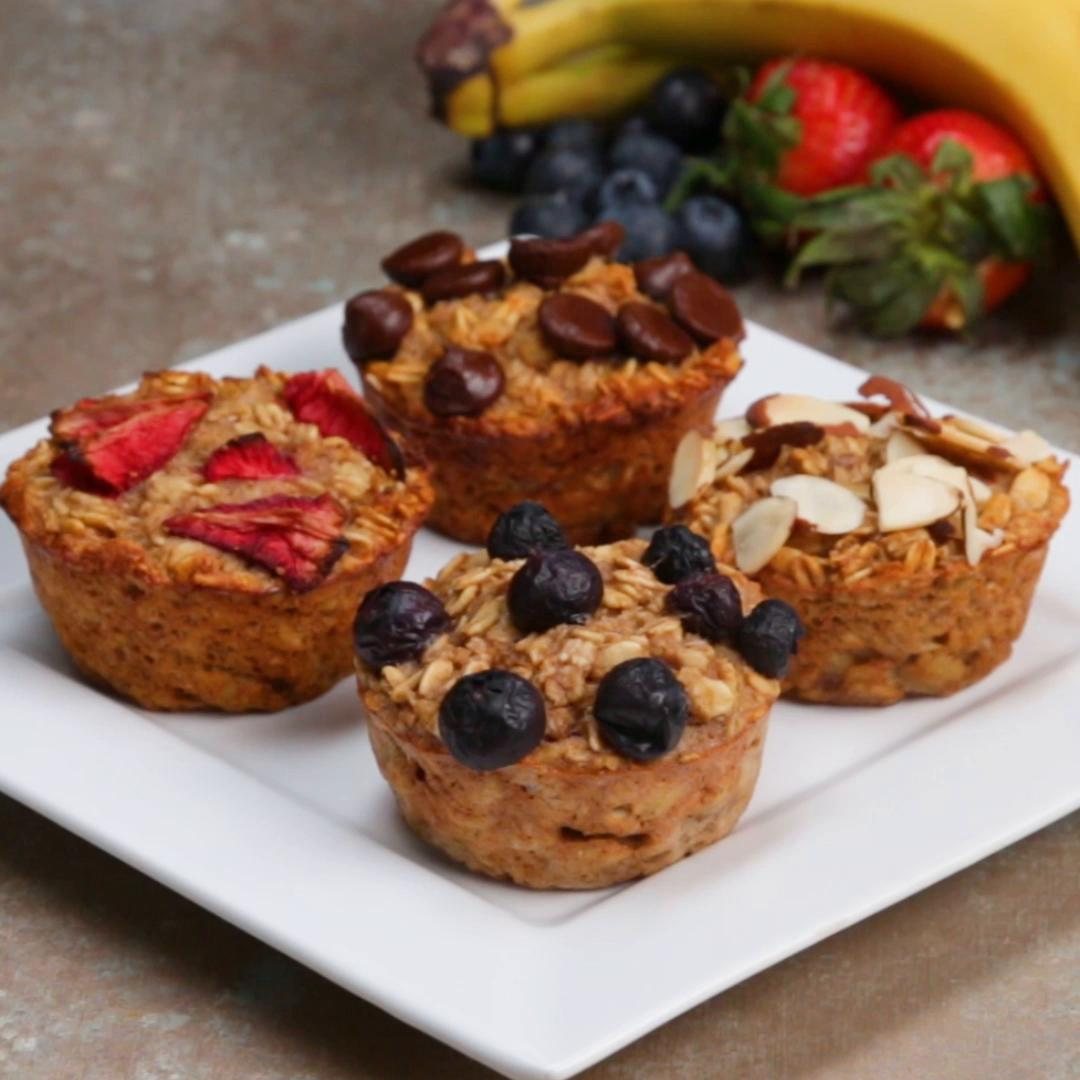 Oatmeal Muffins Recipe By Tasty