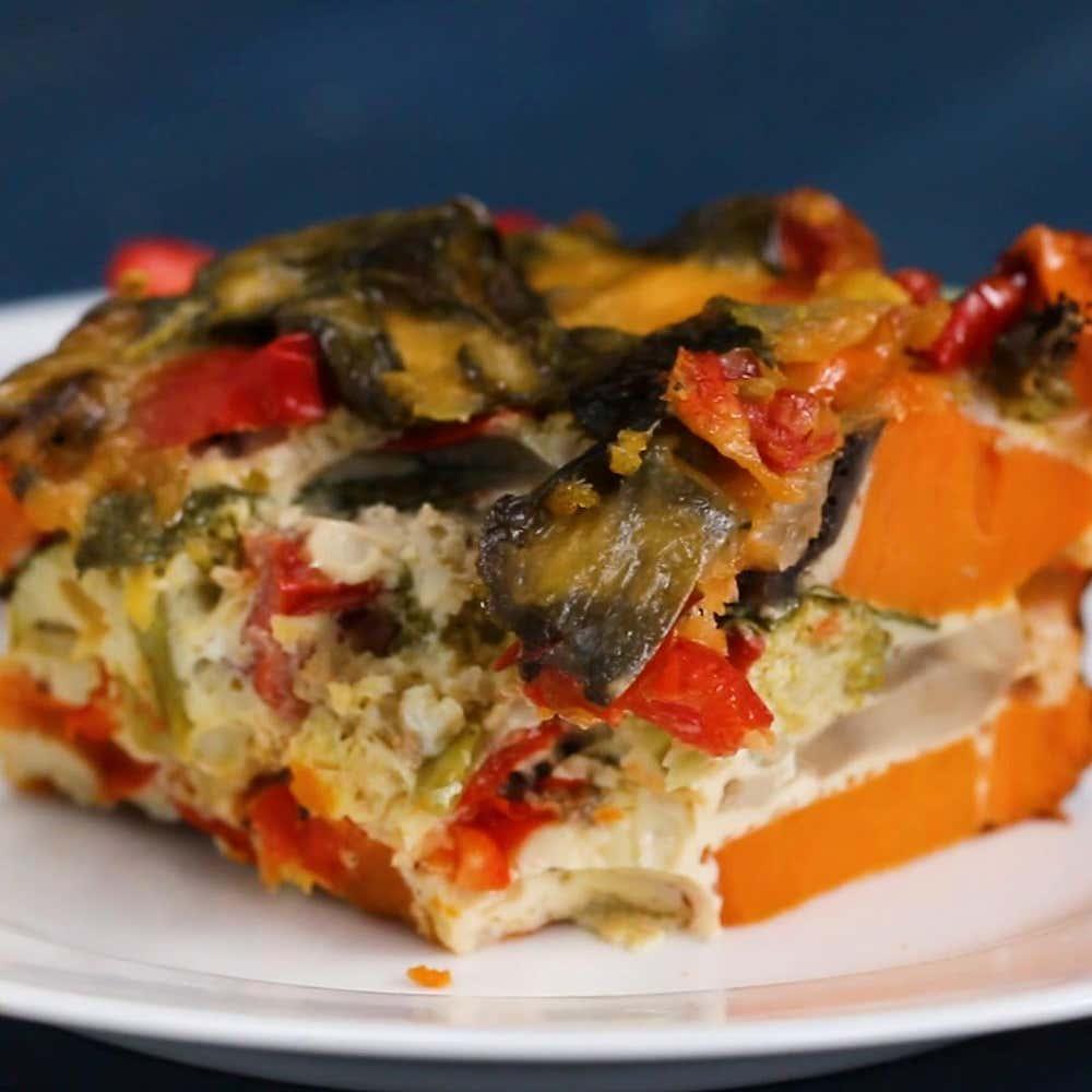 Vegetable Egg Breakfast Casserole: Veggie Breakfast Casserole Recipe By Tasty