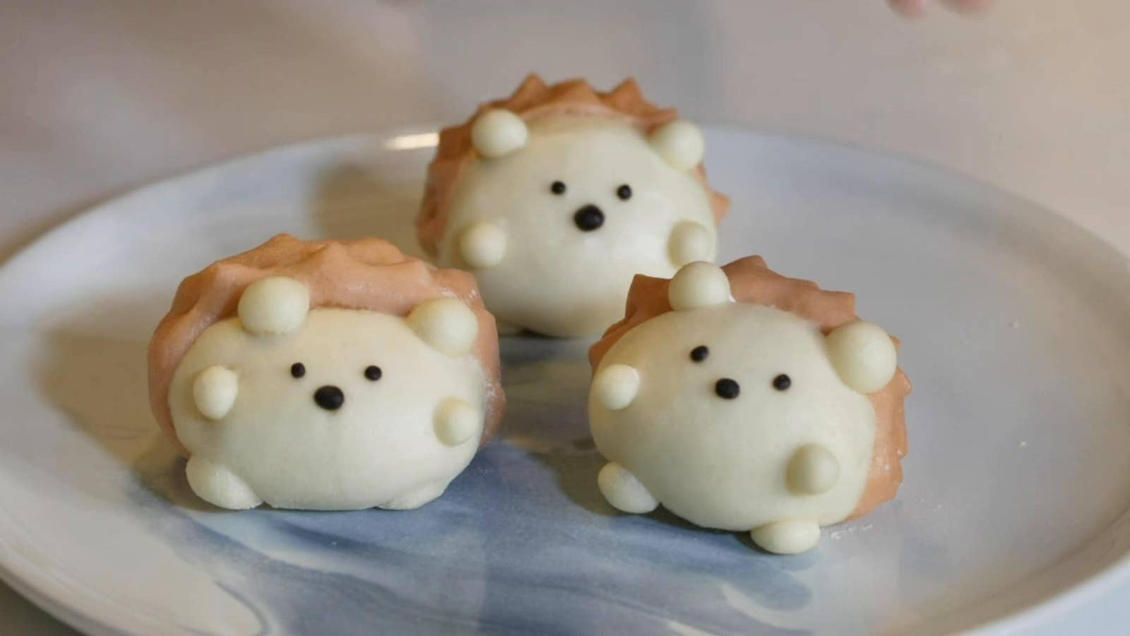 Taro-Stuffed Hedgehog Buns