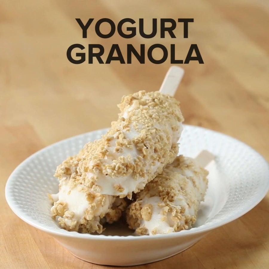 Yogurt Granola Frozen Banana