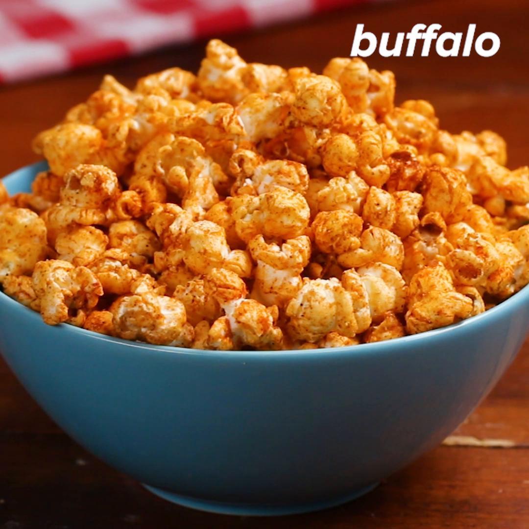 Buffalo Popcorn Recipe By Tasty