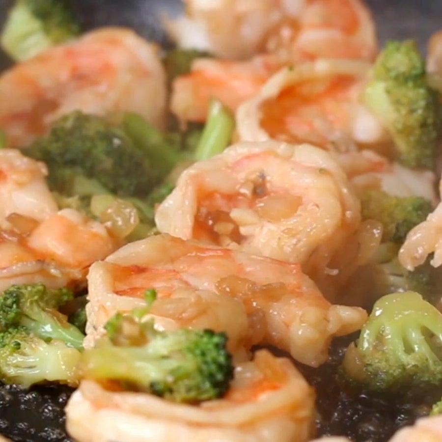Garlic Broccoli Shrimp Stir Fry