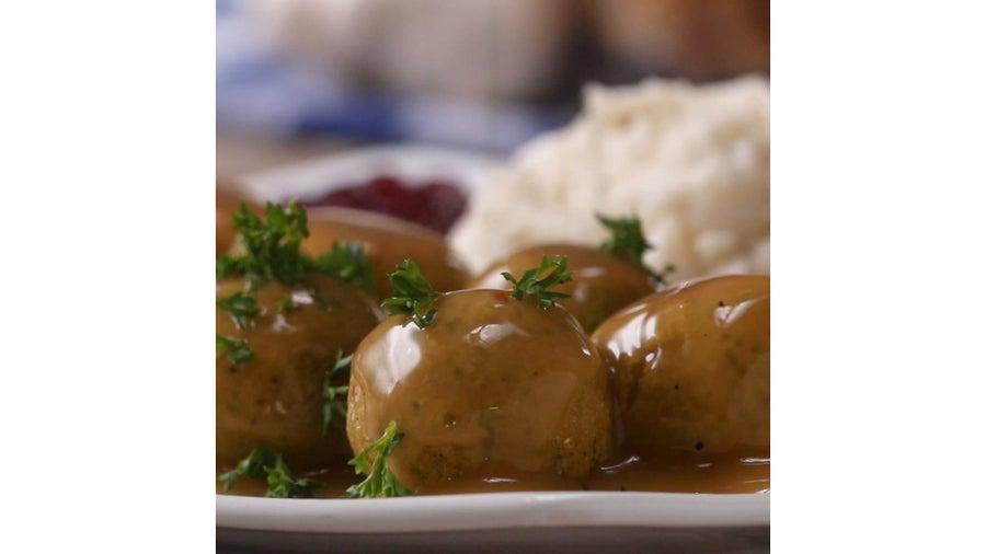 "Chickpea Garlic ""Meat""balls"