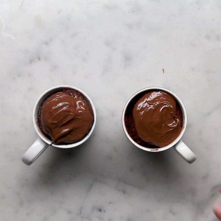 Chocolate Hazelnut Mug Cakes