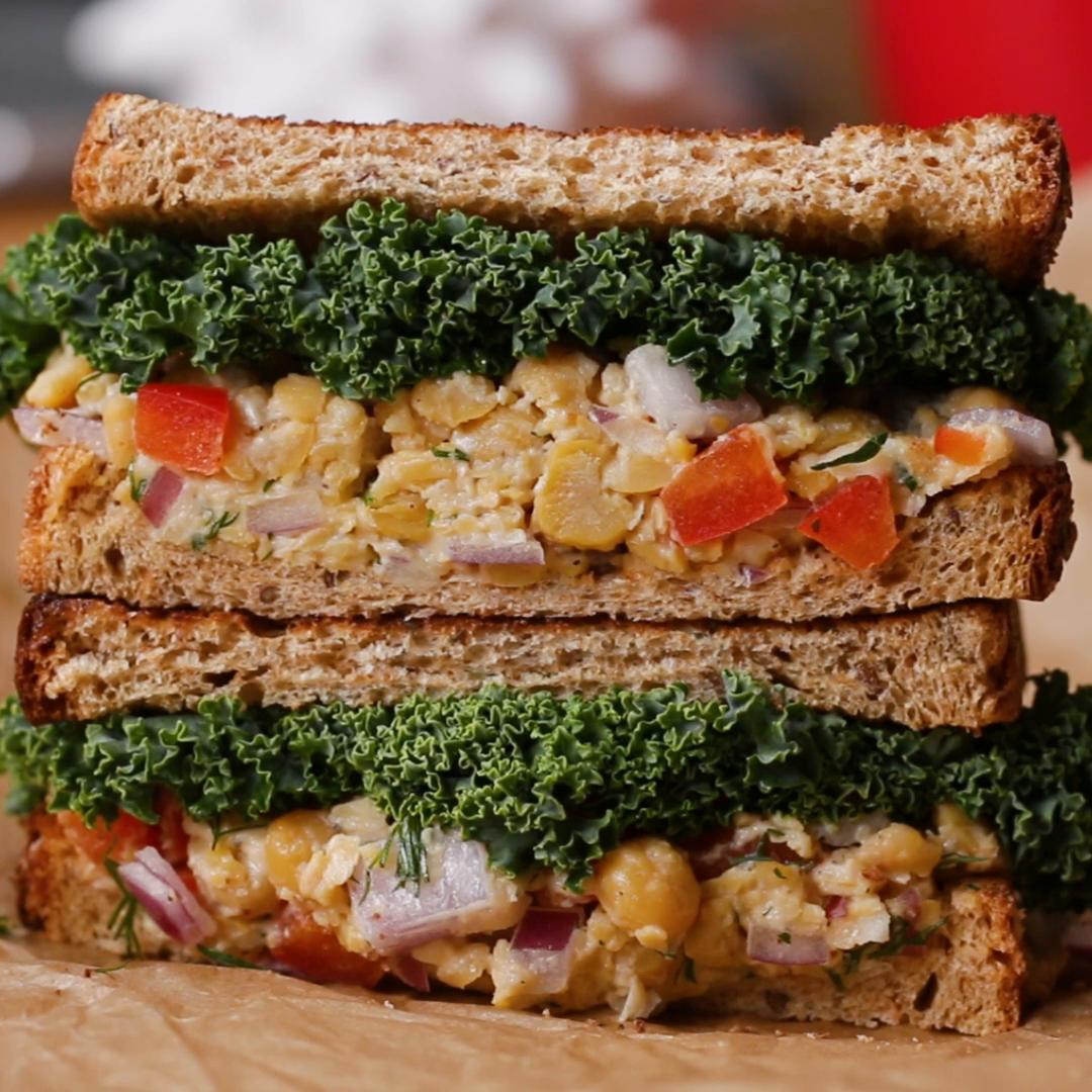 Chickpea Salad Sandwich Recipe By Tasty