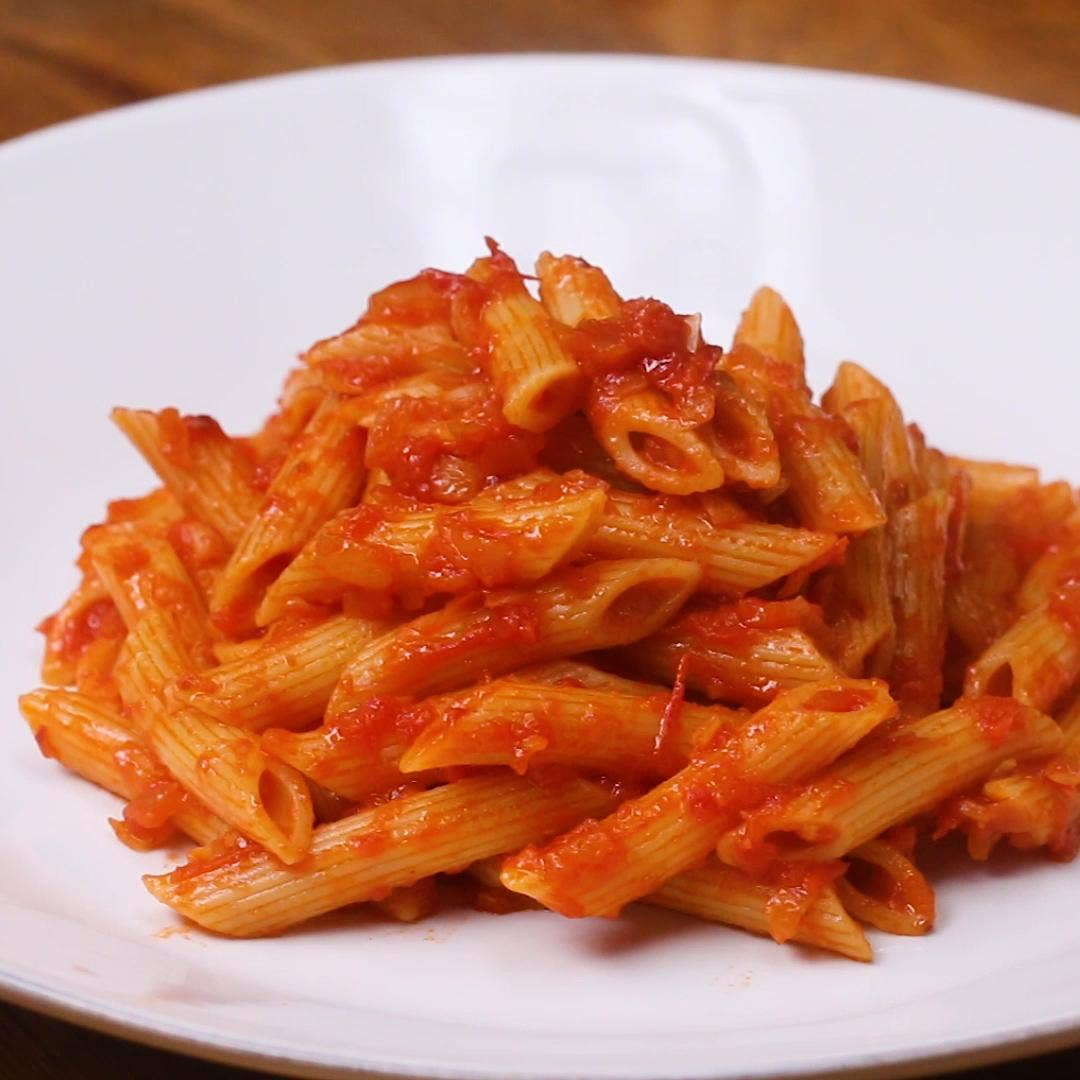 Penne With Tomato Sauce Pasta Recipe By Tasty