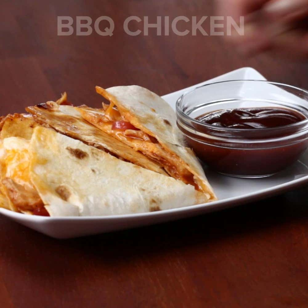 Bbq chicken quesadilla recipe by tasty by claire nolan from the video quesadillas 4 ways forumfinder Gallery