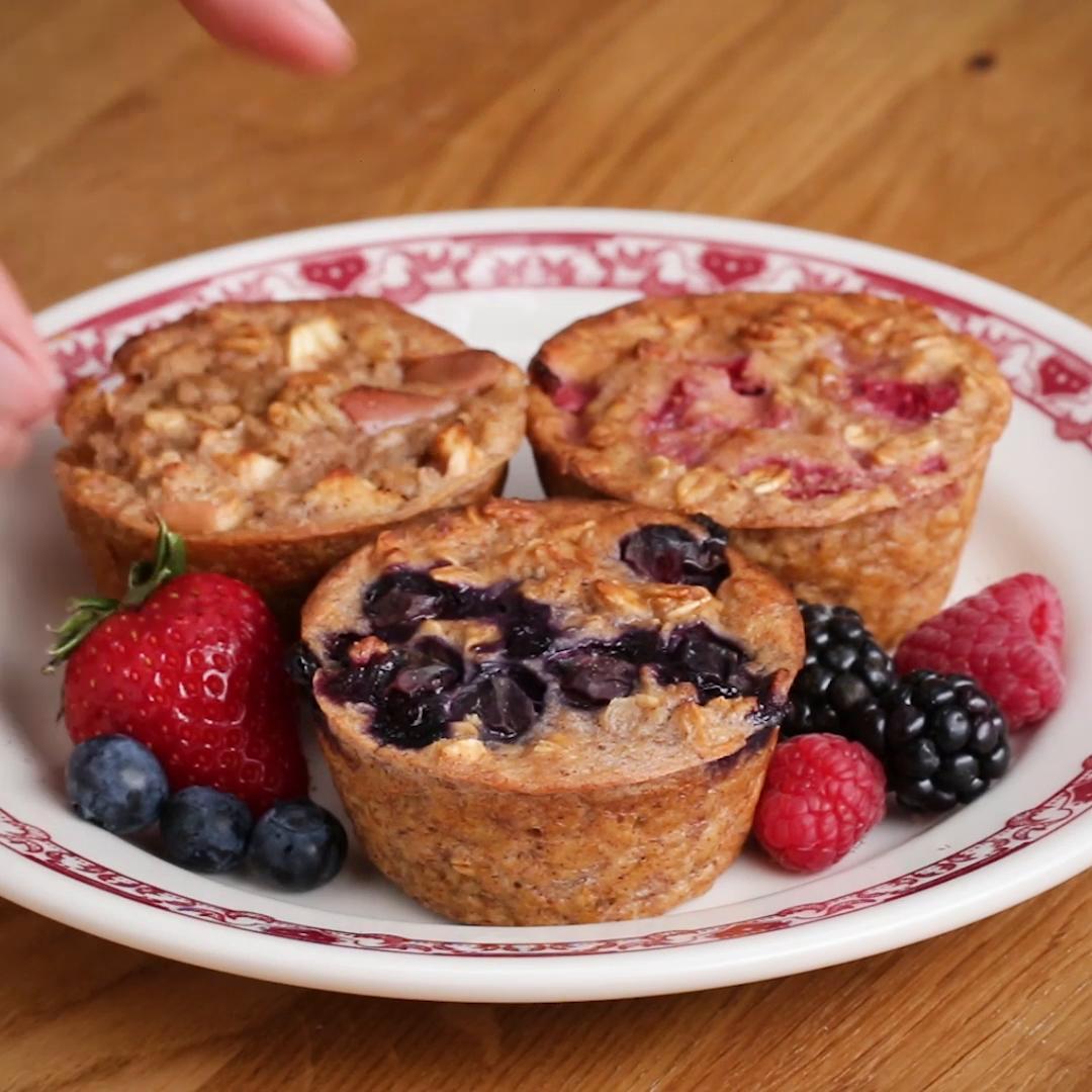 Muffin Tin Banana Oat Muffins Recipe By Tasty