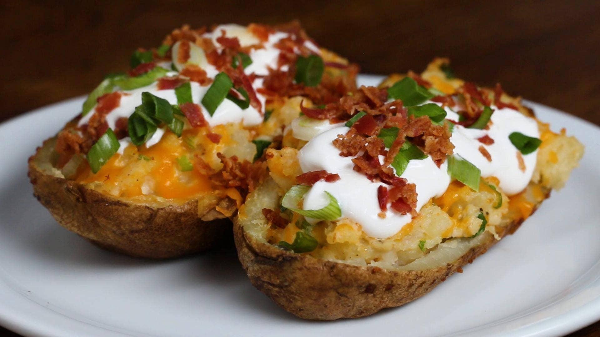 Twice-Baked Loaded Potatoes Recipe by Tasty