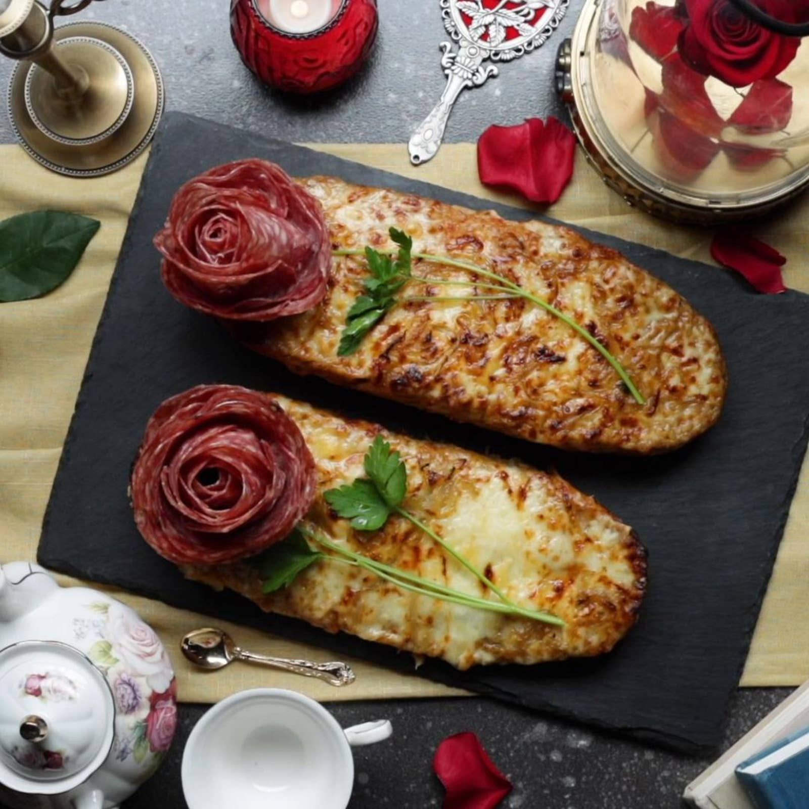 Beauty And The Beast-Inspired French Bread Pizza