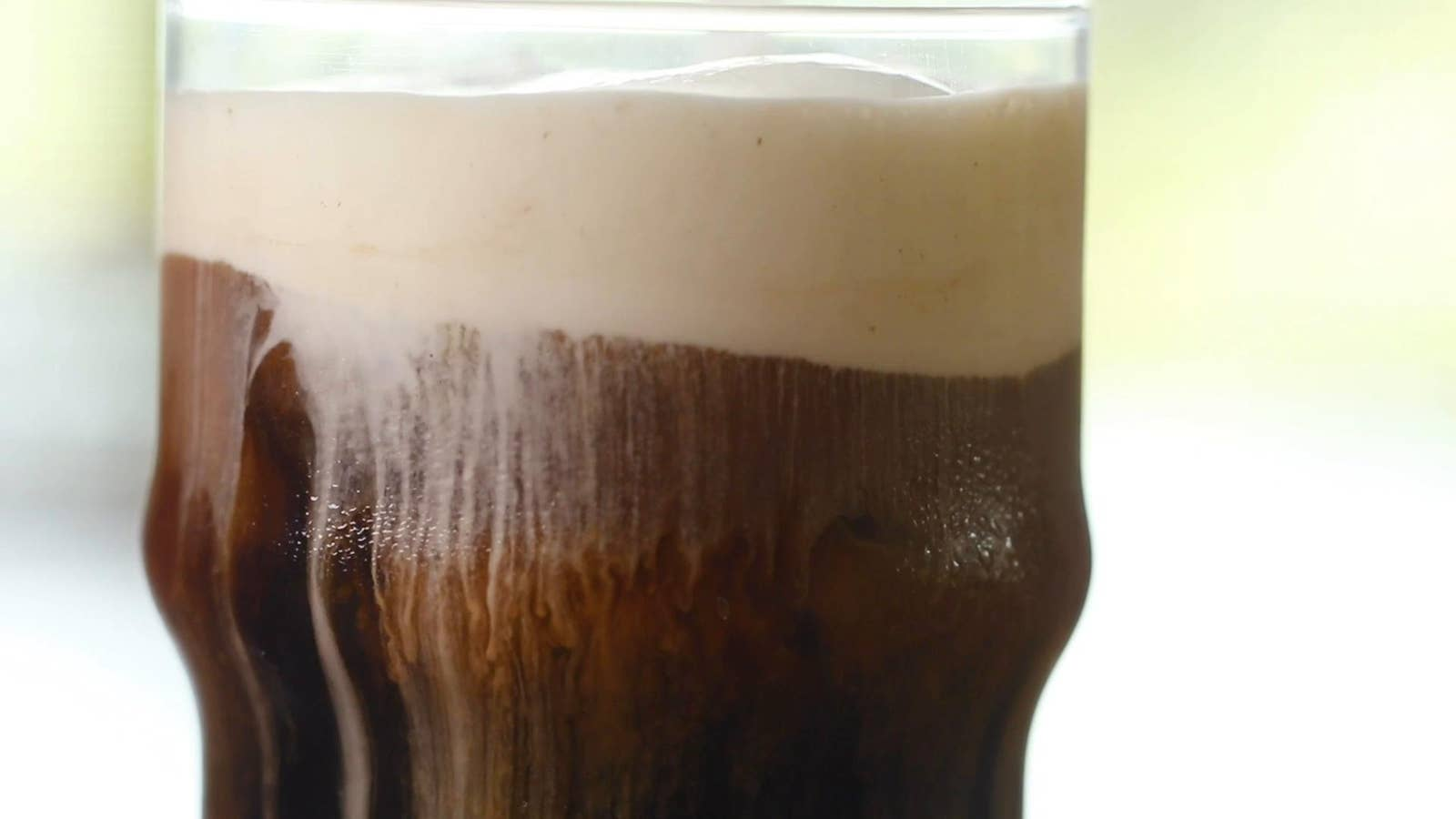 Cold Brew With Sweet And Salty Foam