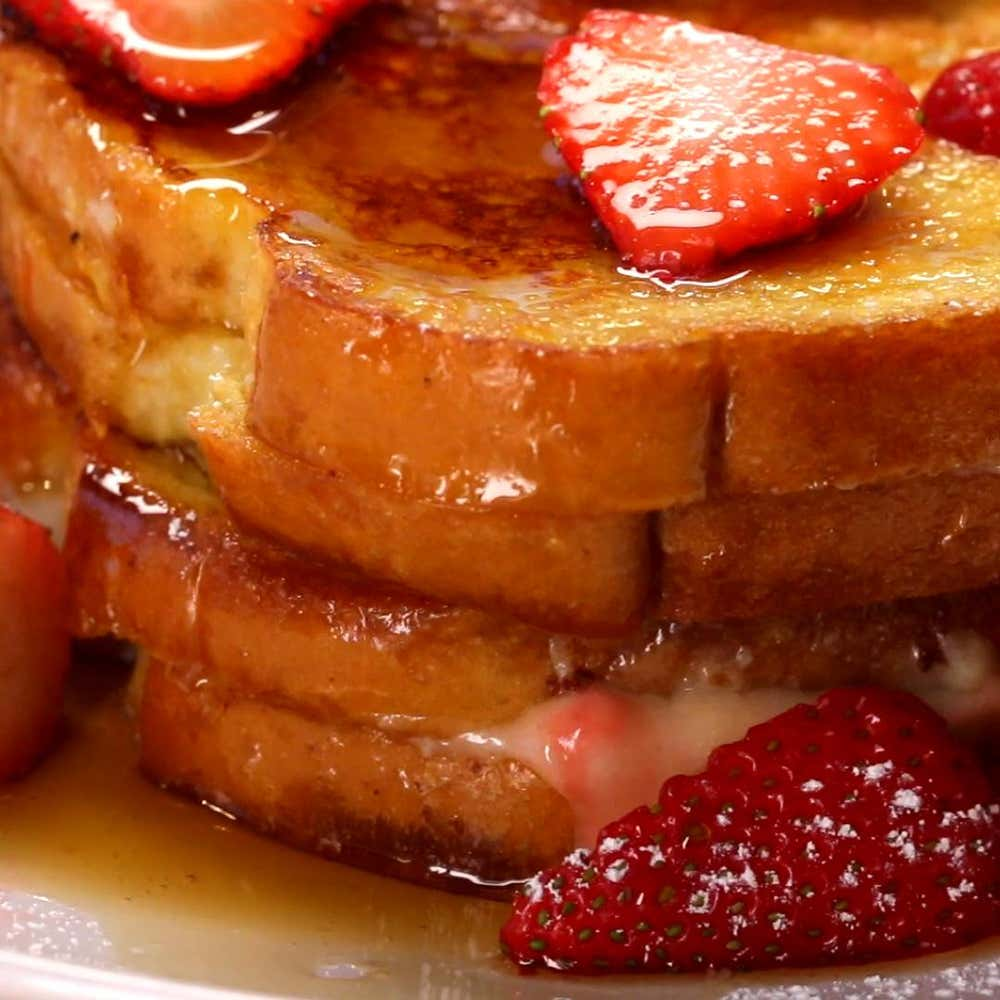 Strawberry Cheesecake French Toast Recipe By Tasty