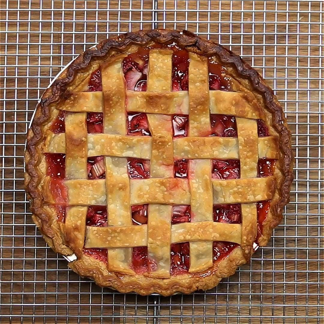 Strawberry Rhubarb Pie Recipe By Tasty