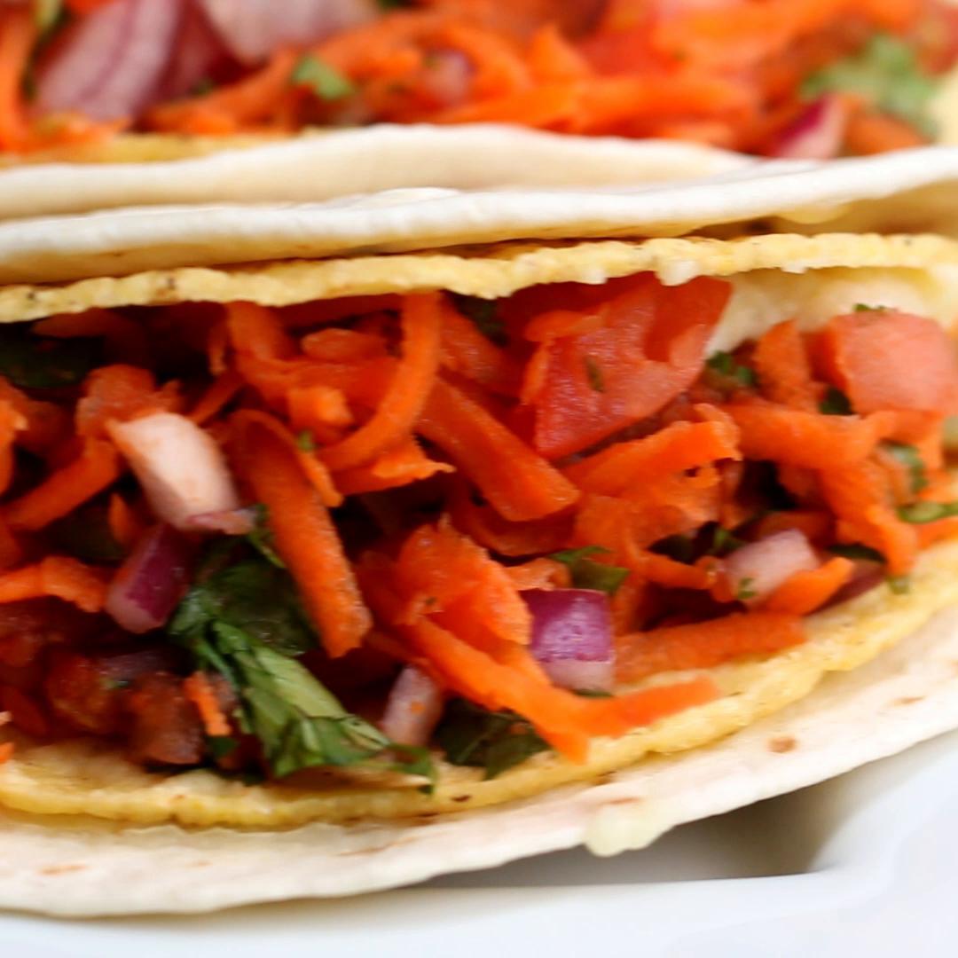 Double-Decker Potato Tacos Recipe by Tasty image