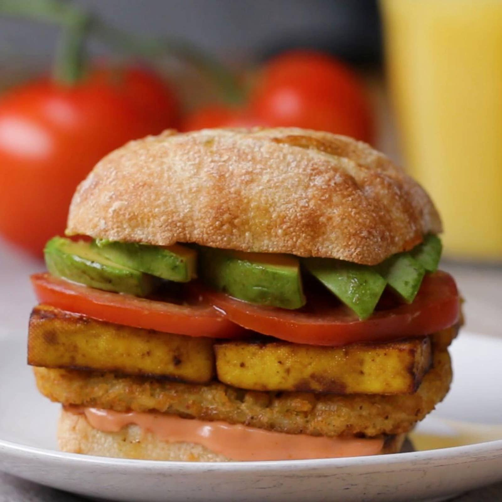 "Tofu ""Egg"" Breakfast Sandwich"