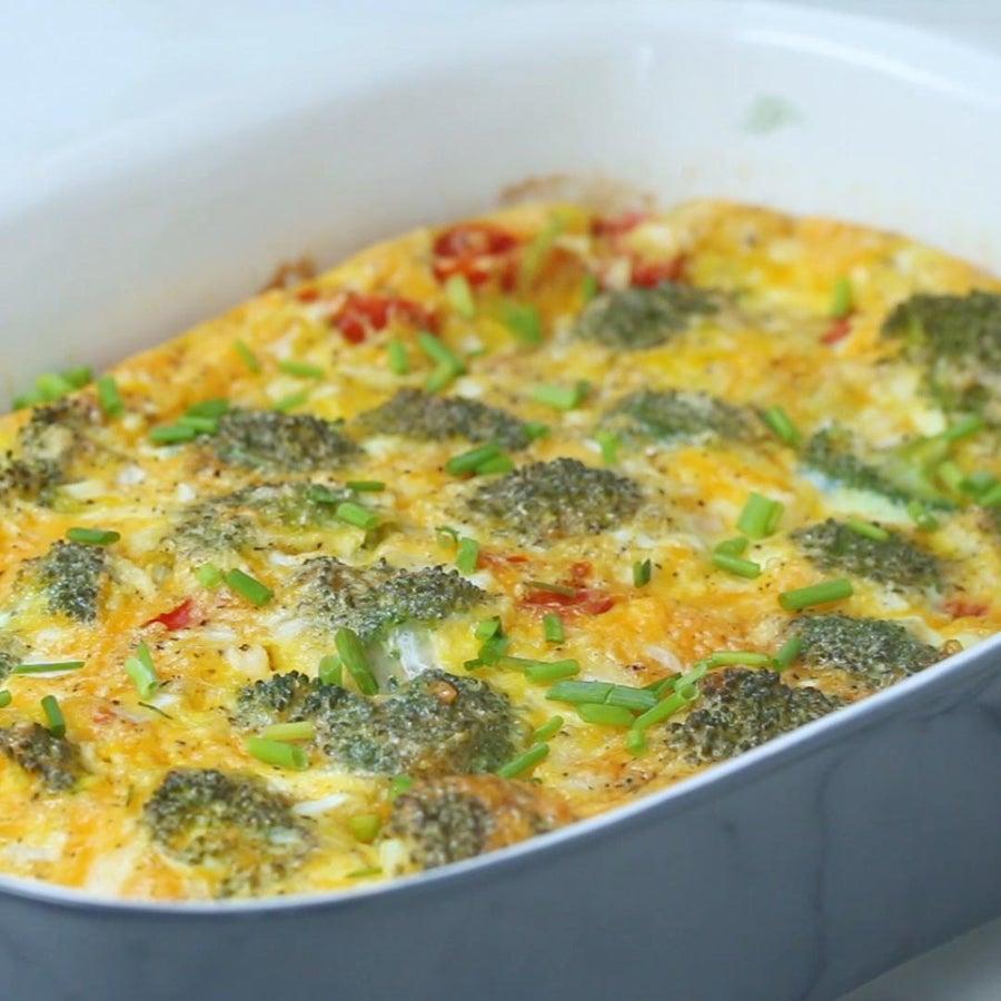 Broccoli Cheddar Brunch Bake