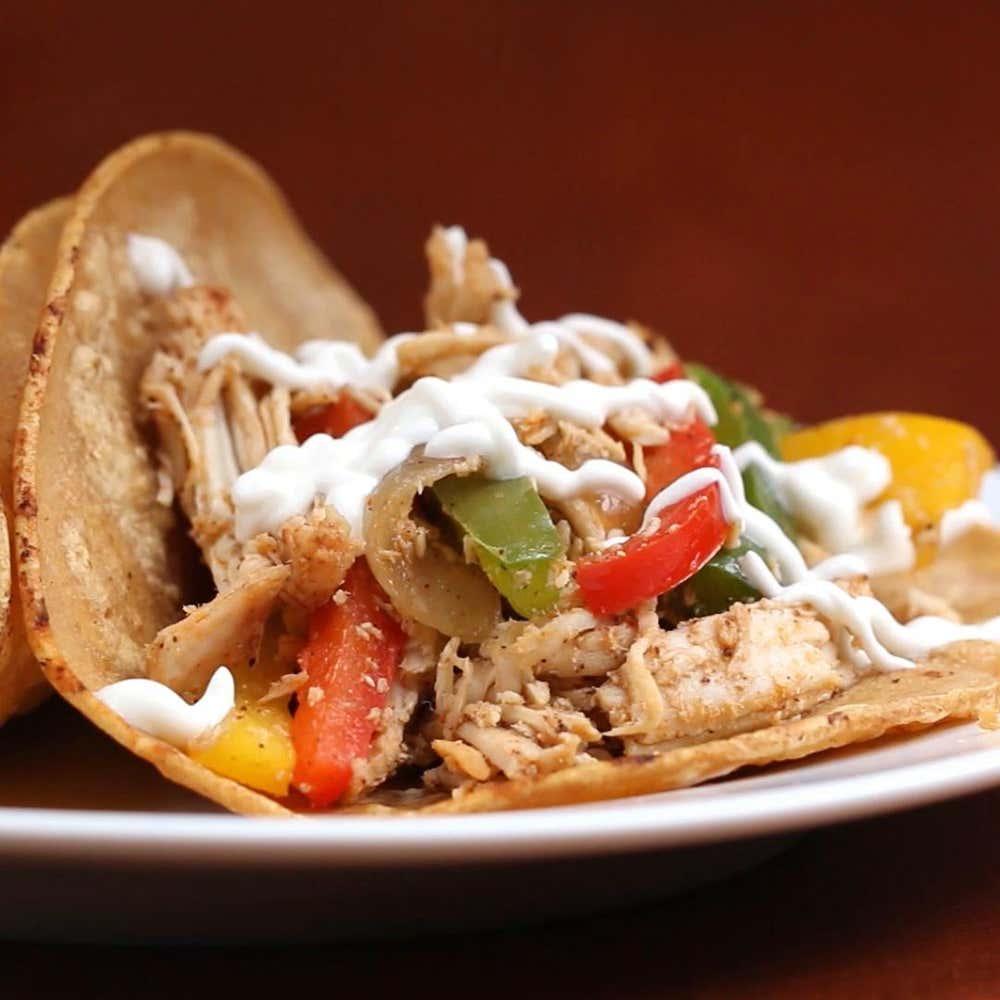 Chicken Fajita Tacos Recipe By Tasty