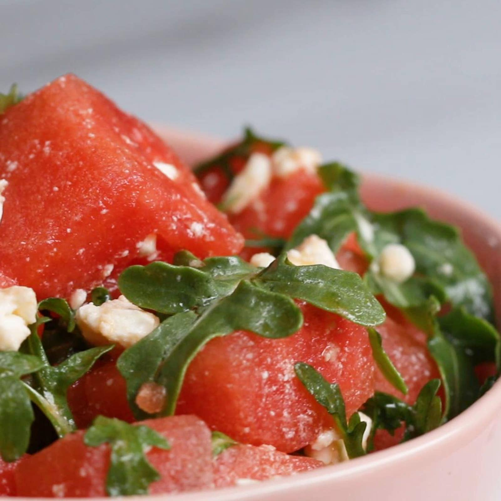 Watermelon Salad With Arugula And Feta