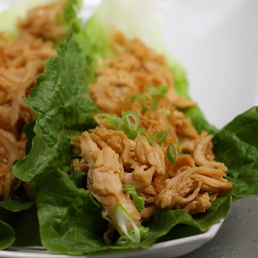 Sweet And Sour Chicken Lettuce Cups