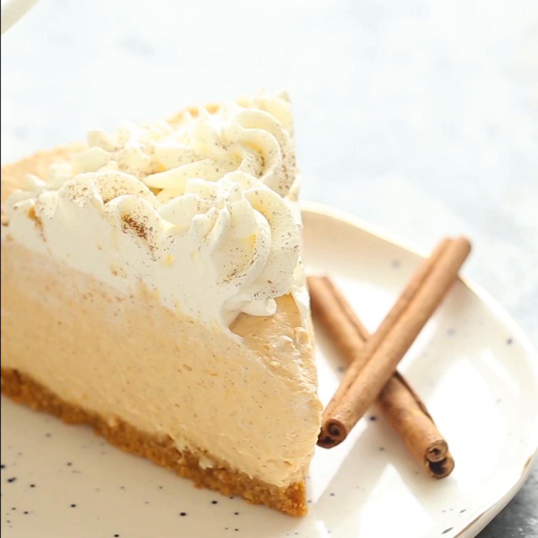 No Bake Pumpkin Cheesecake Recipe By Tasty