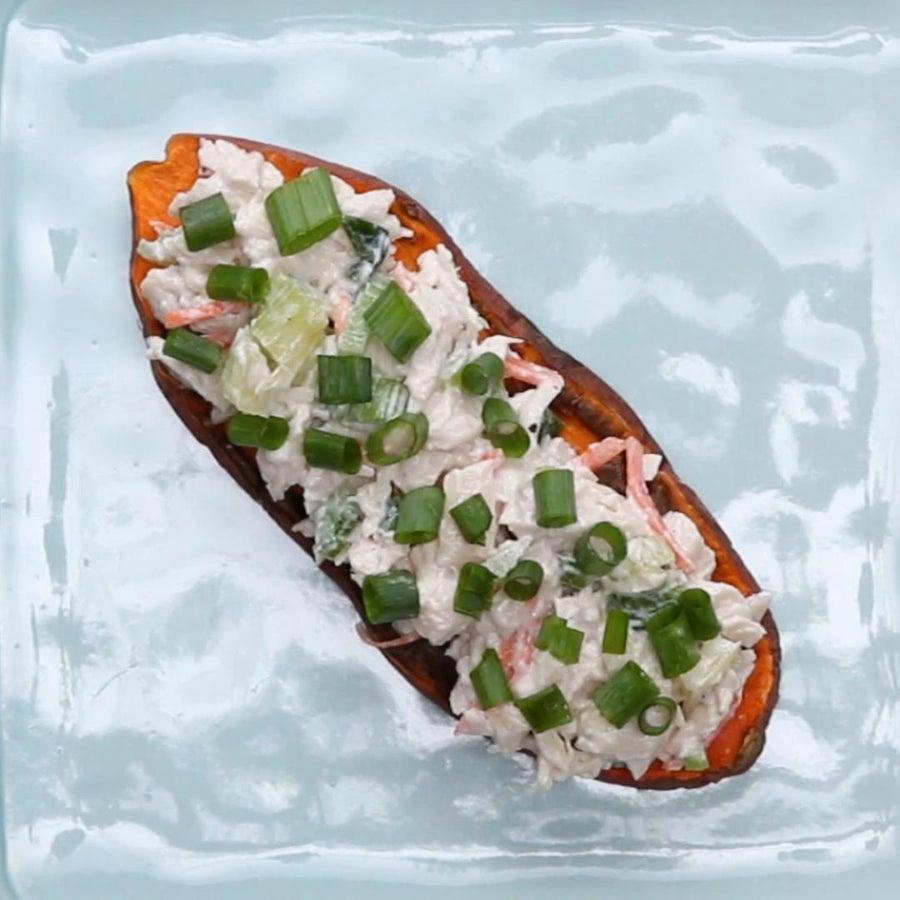Chicken Salad Sweet Potato Toast