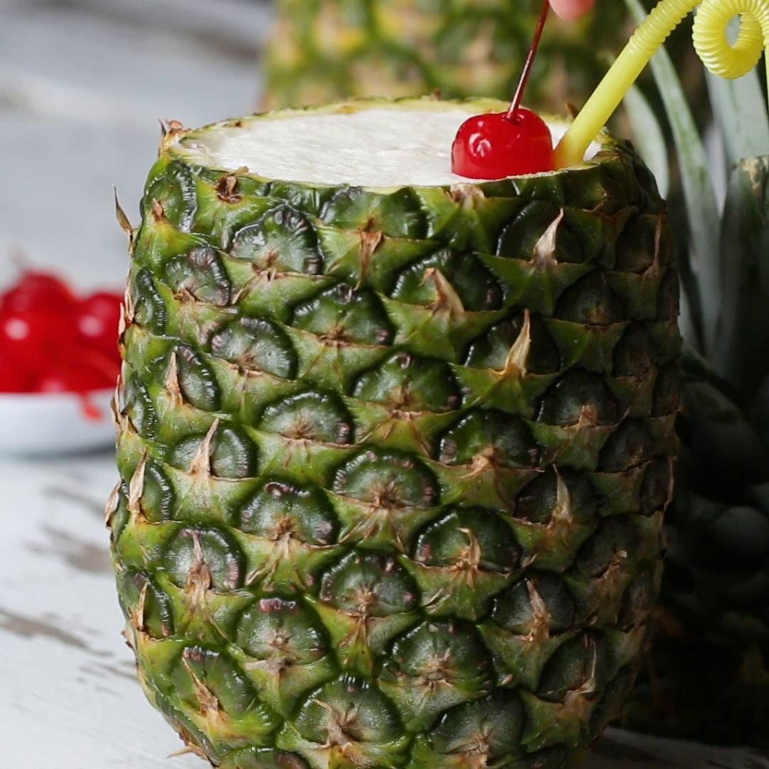 Piña Colada In A Pineapple Recipe by Tasty