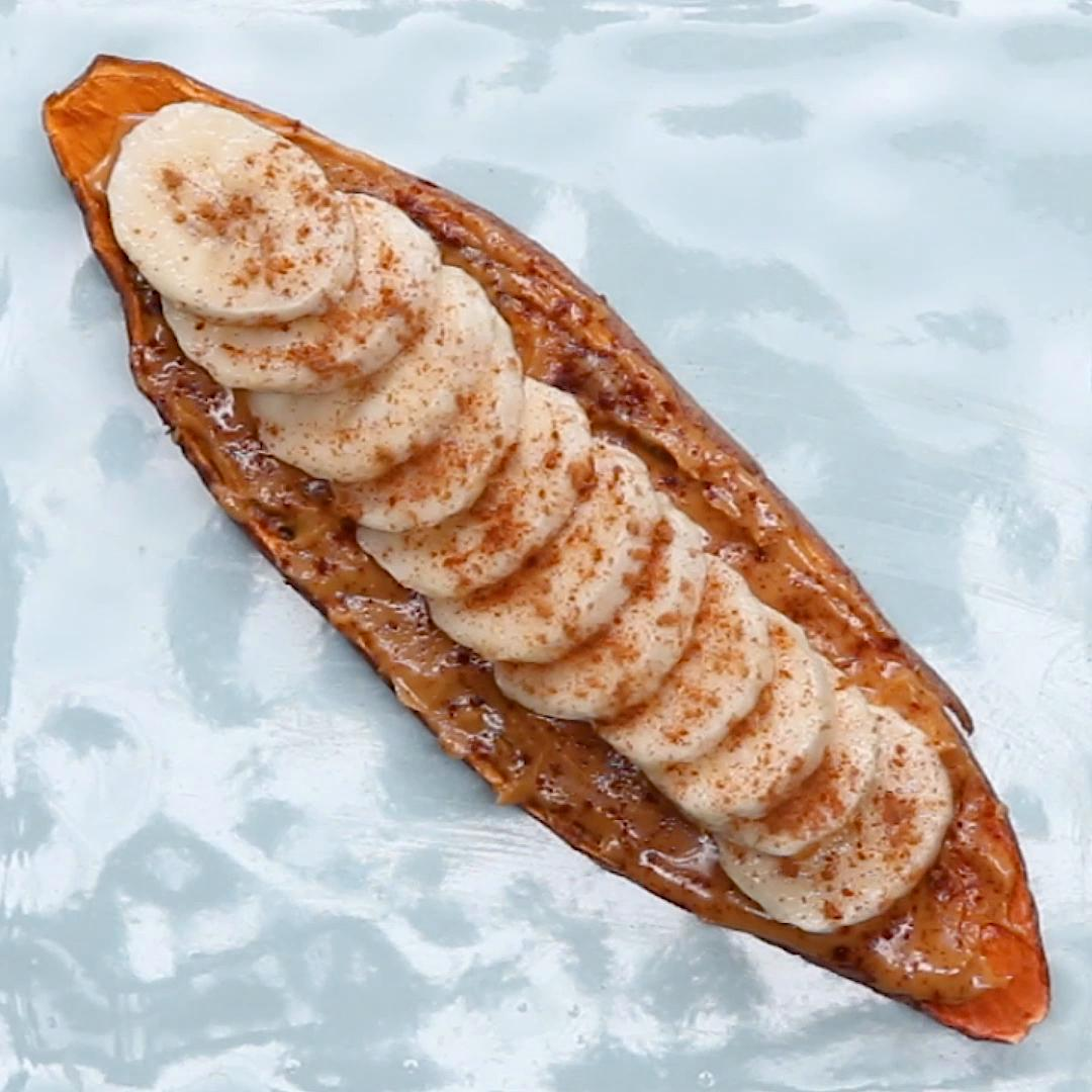 11 Easy And Delicious Ways To Cook Sweet Potatoes: PB&B Sweet Potato Toast Recipe By Tasty