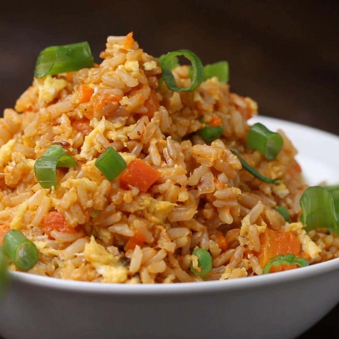 Healthier Veggie Fried Rice Recipe By Tasty