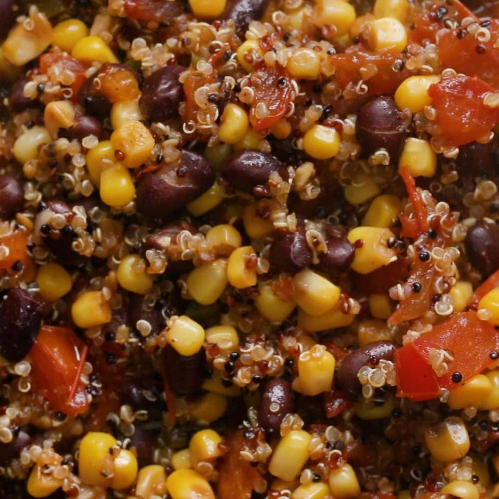 southwestern style quinoa salad recipe by tasty