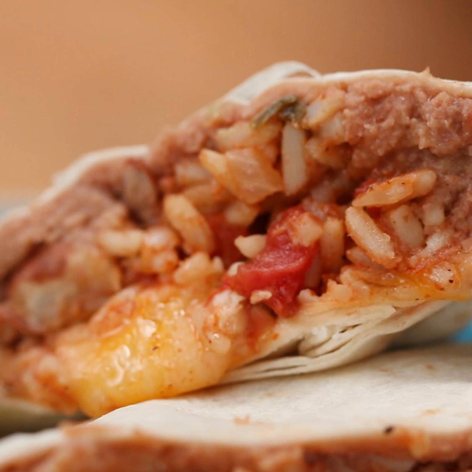 Beans Rice Cheese Burritos Recipe By Tasty