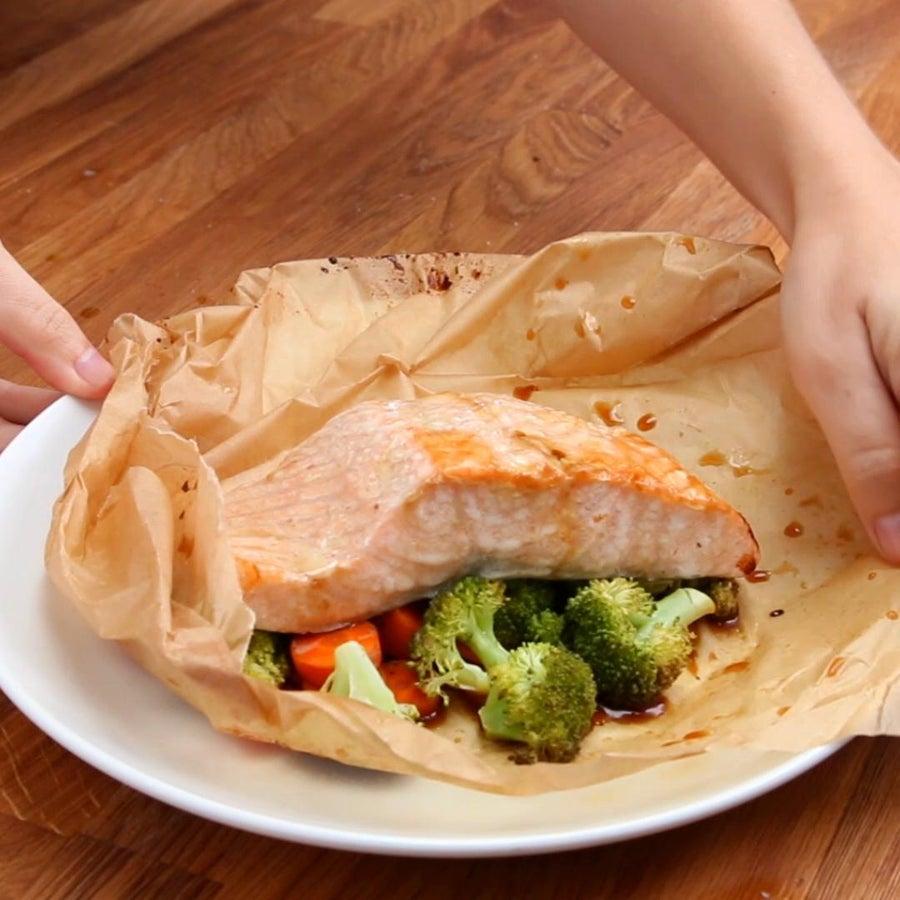 Parchment Teriyaki Salmon