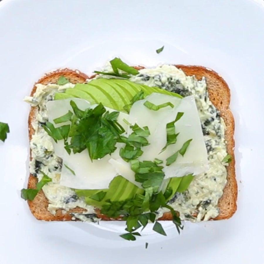 Spinach & Artichoke Avocado Toast