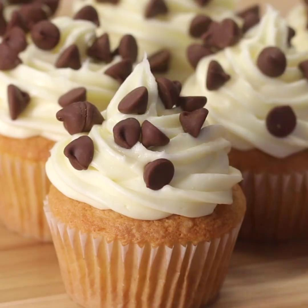 cookie dough box cupcakes recipe by tasty