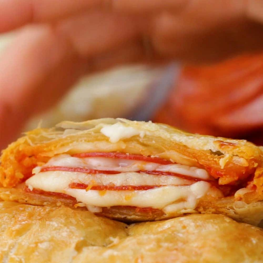 Pepperoni Pizza Pockets Recipe By Tasty