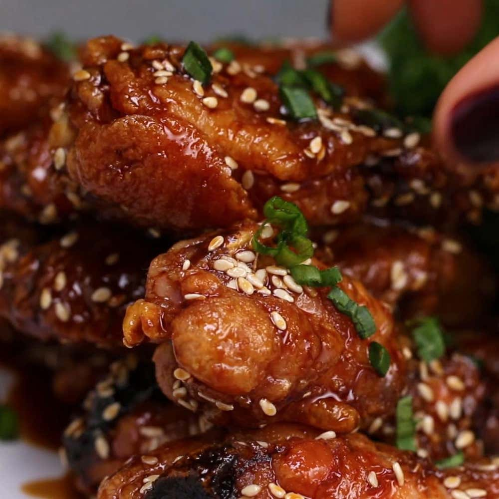 Baked teriyaki wings recipe by tasty by mercedes sandoval from the video baked chicken wings 4 ways forumfinder Image collections