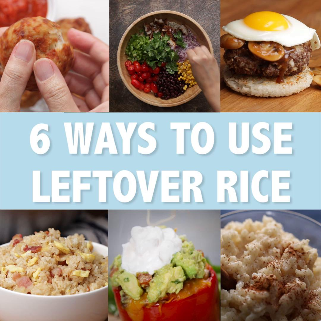 6 Ways To Use Leftover Rice Recipes