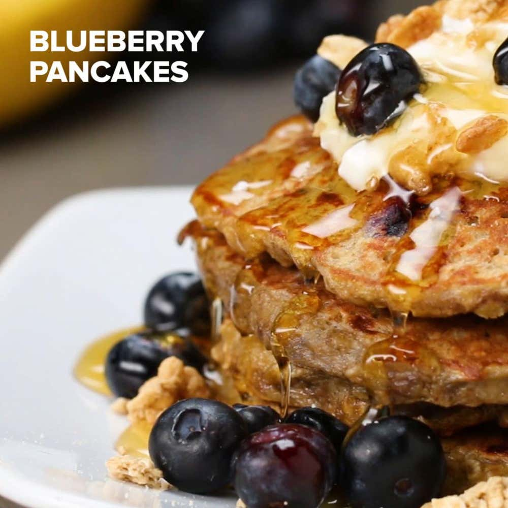 Healthy blueberry pancakes recipe by tasty by mercedes sandoval ccuart Choice Image