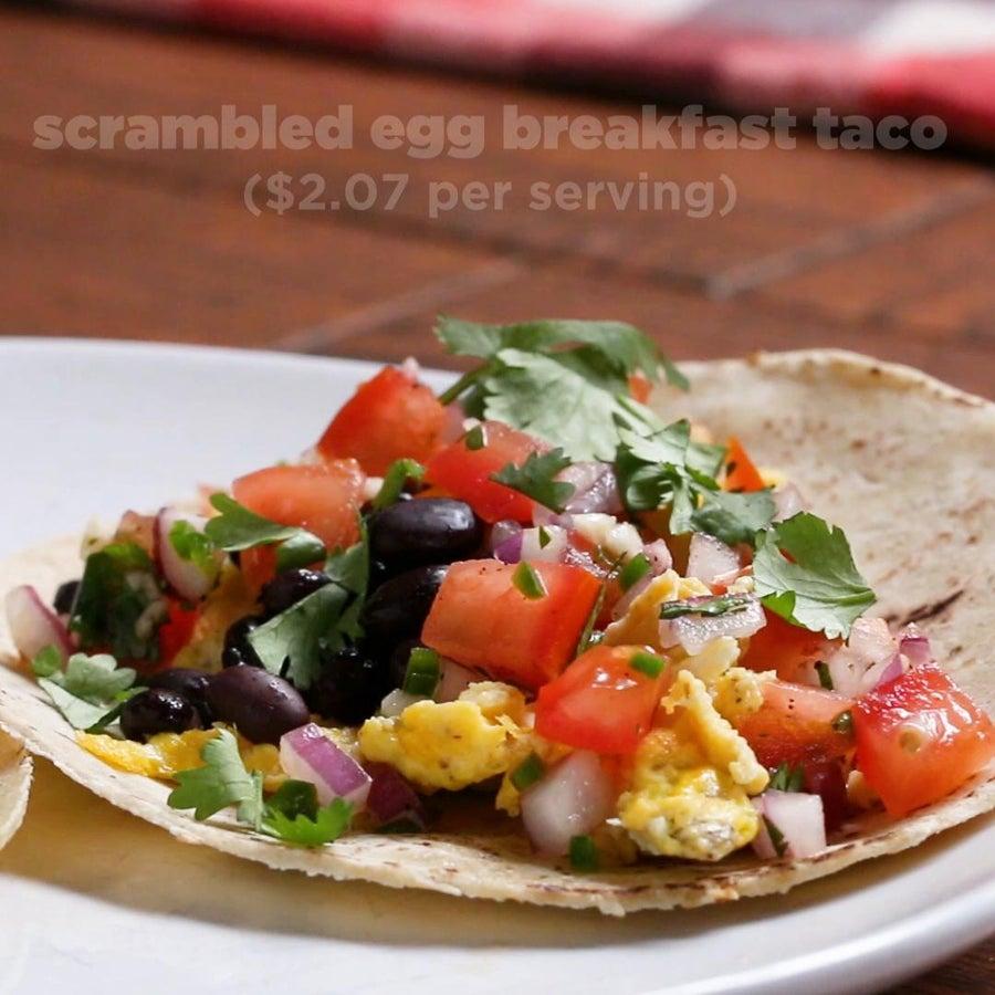 Scrambled Egg Breakfast Tacos