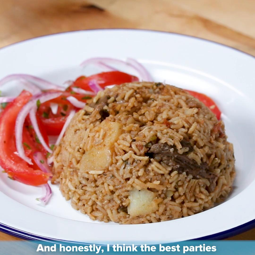 kenyan beef and potato pilau by kiano moju recipe by tasty