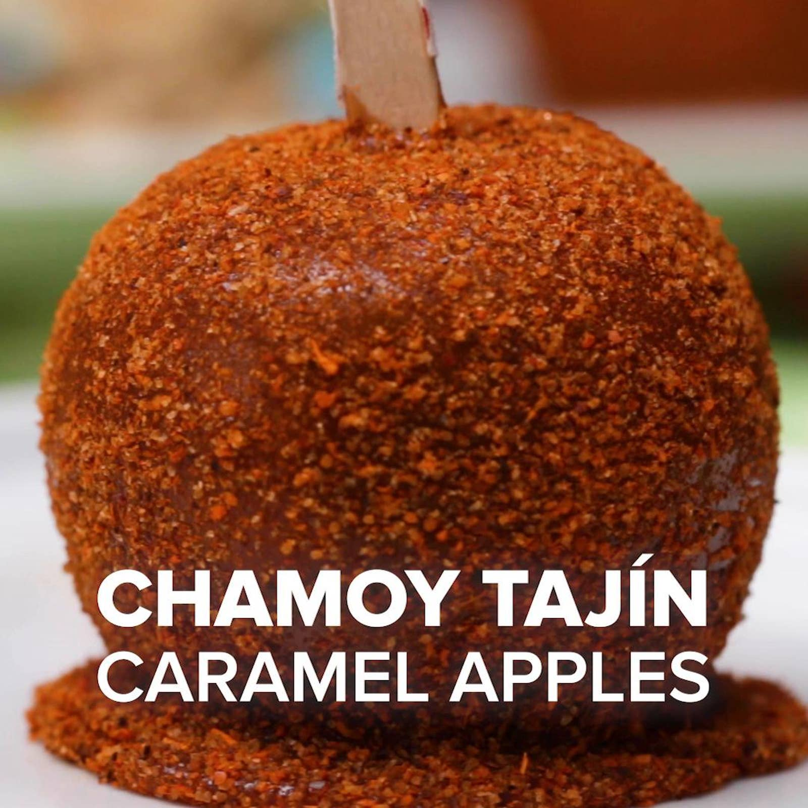 Chamoy Tajin Caramel Apples Recipe By Tasty