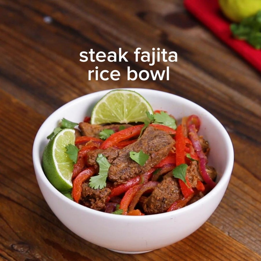 Sheet Tray Fajitas Rice Bowl
